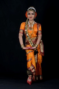 Kuchipudi dancer in